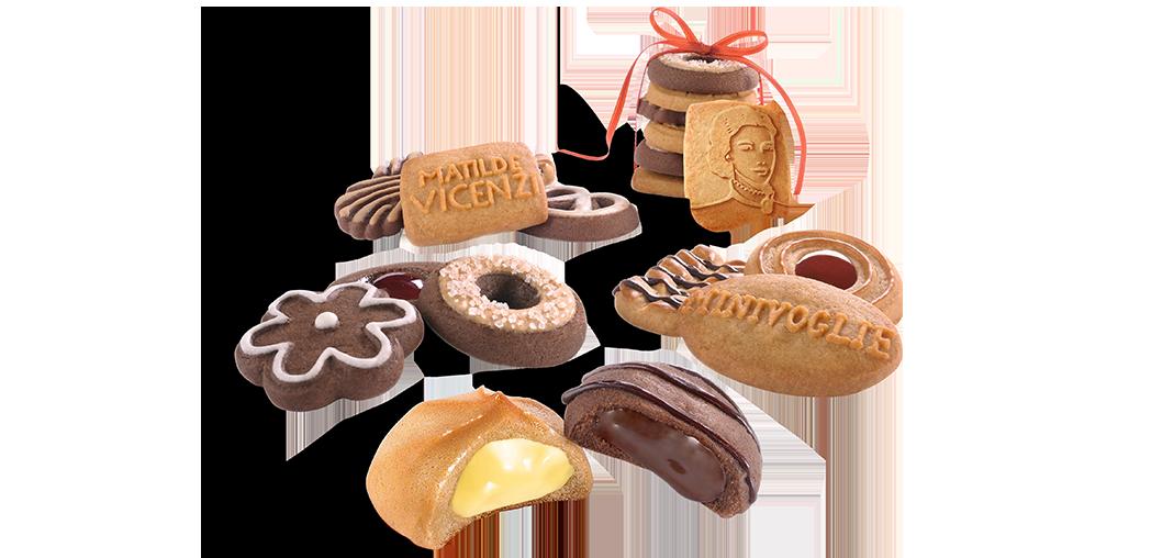 Mürbeteiggebäck und Kekse