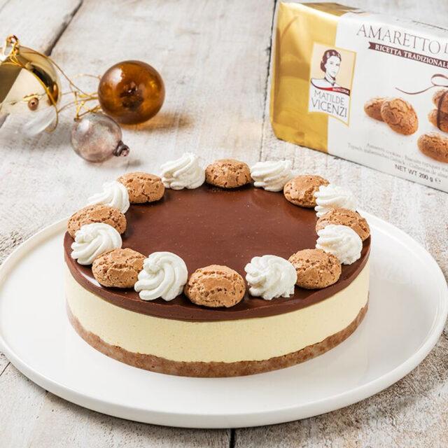 No Bake Cheesecake With Amaretti D Italia Macaroons And Chocolate